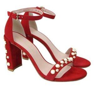 Stuart Weitzman morepearls sandals heels shoes